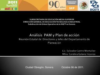 An lisis  PAM y Plan de acci n Reuni n Estatal de  Directores y Jefes del Departamento de Planeaci n
