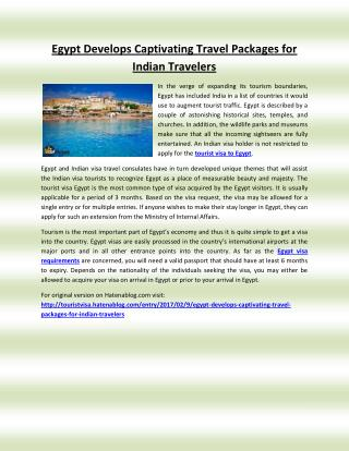 Egypt Develops Captivating Travel Packages for Indian Travelers