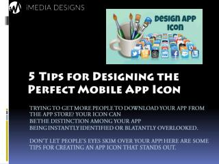 5 Tips for Designing the Perfect Mobile App Icon