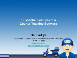 5 Essential Features of a Courier Tracking Software