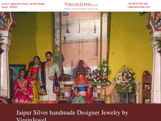 Jaipur Silver handmade Designer jewelry by VirginJewel