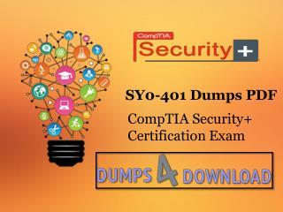 SY0-401 Dumps Free Download PDF - Dumps4download.com