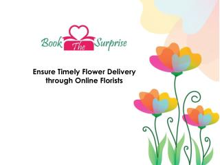 Online delivery florists are better than the original florist hands down.