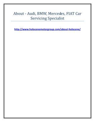 About - Audi, BMW, Mercedes, FIAT Car Servicing Specialist