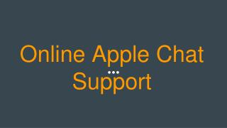 Online Apple Chat Support