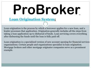 Loan Origination System