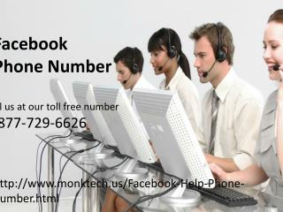 Facebook Phone Number Care 1-877-729-6626 help of Facebook account Password