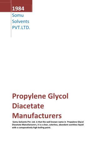 Propylene Glycol Diacetate Manufacturers
