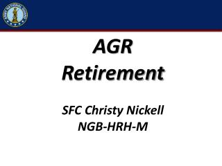AGR  Retirement  SFC Christy Nickell NGB-HRH-M