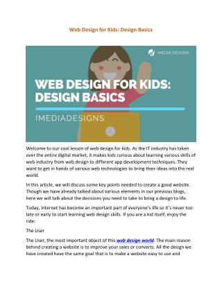 Web Design for Kids: Design Basics
