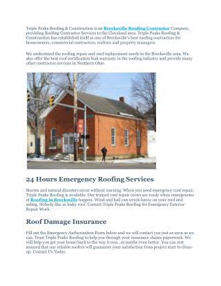 Brecksville Roofing Contractor