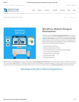 WordPress Website Designing & Development Company