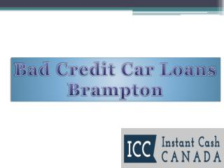 Bad Credit Car Loans Brampton