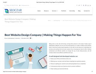 Best Website Design Company | Making Things Happen For You