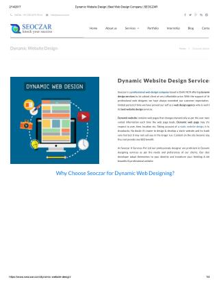 Dynamic Website Design | Best Web Design Company