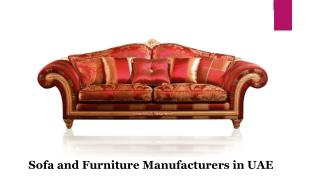 Sofa and Furniture Manufactures in UAE