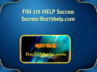 FIN 375 HELP Success Secrets/fin375help.com