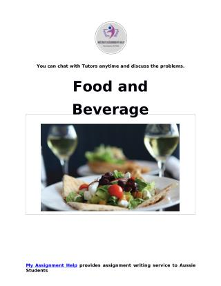 Food and Beverage Sample