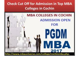 Check Cut Off for Admission in Top MBA Colleges in Cochin