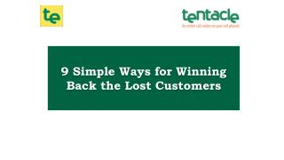How to Bring Lost Customers Back?