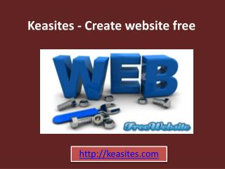 Keasites - Create website free
