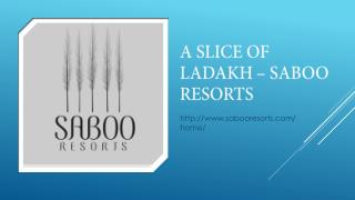 A Slice Of Ladakh - Saboo Resorts