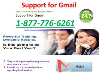 Gmail Support @1-877-776-6261: one stop solution