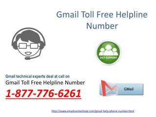 Help for Gmail @1-877-776-6261: one stop solution