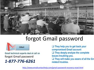 Reset Password for Gmail @1-877-776-6261 is available