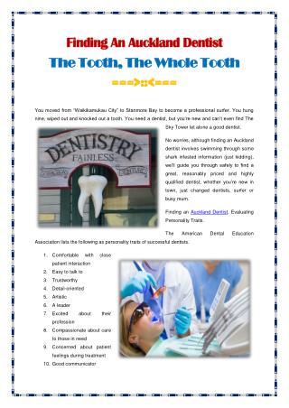 Finding An Auckland Dentist