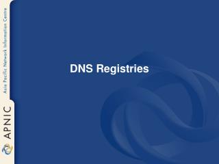 DNS Registries