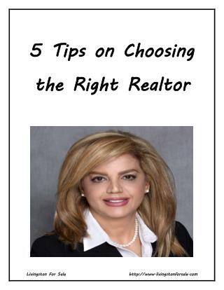 5 Tips on Choosing the Right Realtor