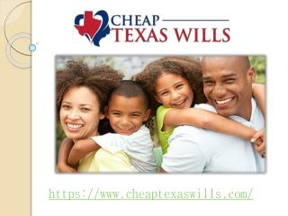 Cheap Texas Wills