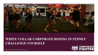 White Collar Corporate Boxing in Sydney  Challenge Yourself