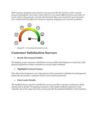 Difference Between Mystery Shopping & Customer Feedback