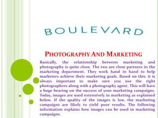 Photography And Marketing
