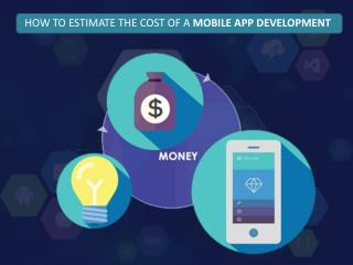 COST OF A MOBILE APP DEVELOPMENT
