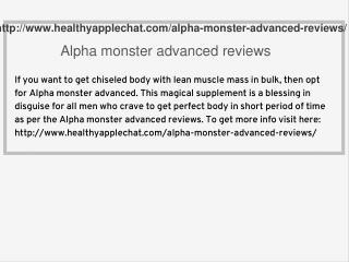 Alpha monster advanced reviews