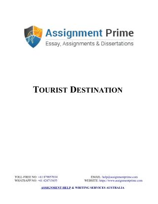 Sample Assignment on Tourist Destination - Assignment Prime Australia