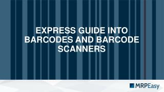 Barcodes & Barcode Scanners: From Chaos to Tracking