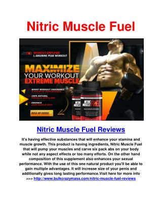 Nitric Muscle Fuel Body Building Supplement