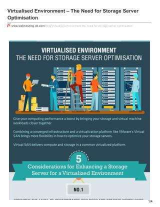Virtualised Environment – The Need for Storage Server Optimisation