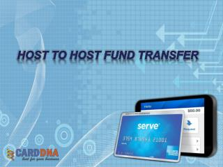Host to host fund transfer