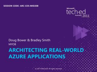 Architecting real-world Azure applications