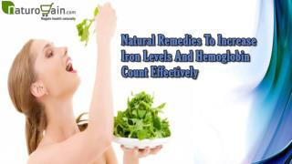 Natural Remedies To Increase Iron Levels And Hemoglobin Count Effectively