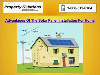 Advantages Of The Solar Panel Installation For Home