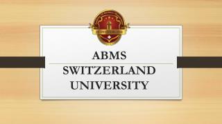 ABMS SWITZERLAND UNIVERSITY