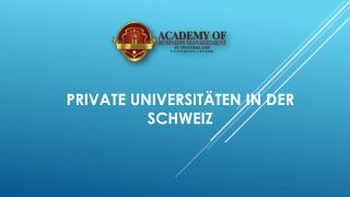 Private universitäten in der schweiz