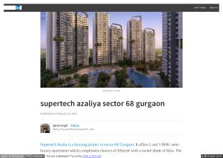 Supertech Azaliya Apartment