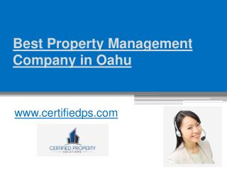 Best Property Management Company in Oahu - www.certifiedps.com
